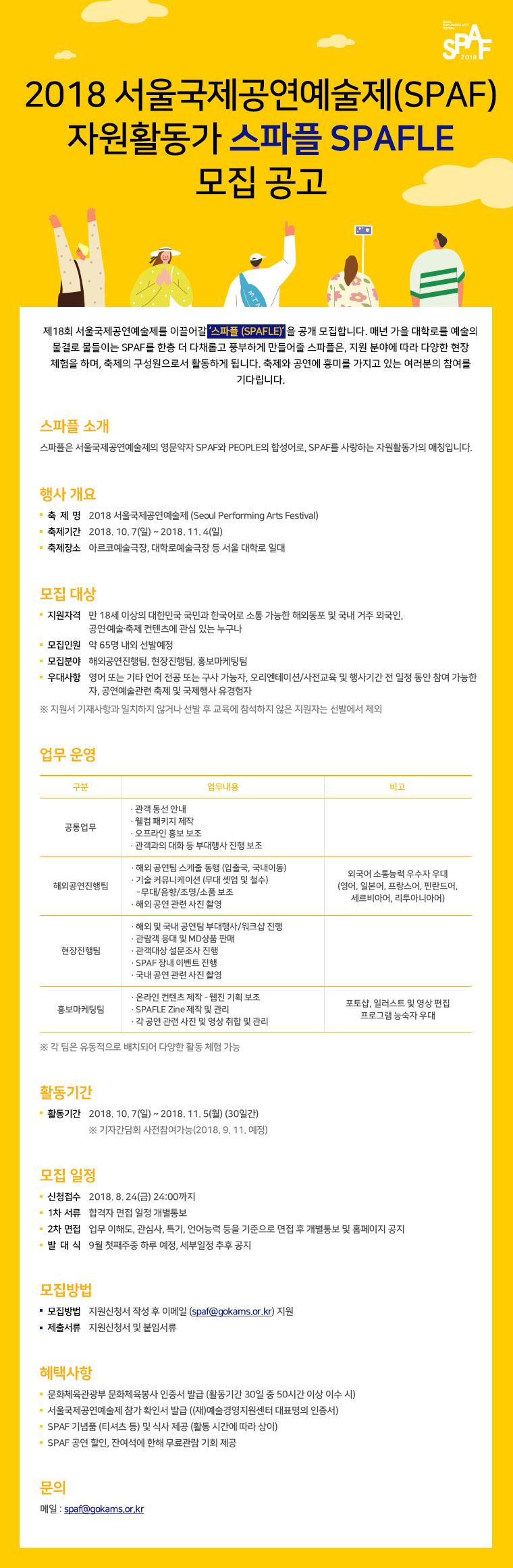 1-2. 2018서울국제공연예술제자원활동가모집공고