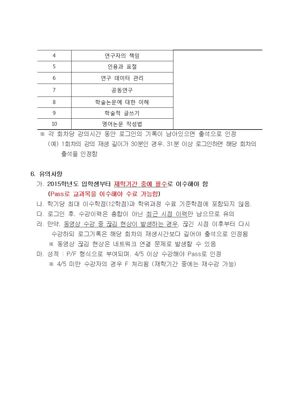 2019-2학기 연구윤리와논문작성법 수강 안내문002