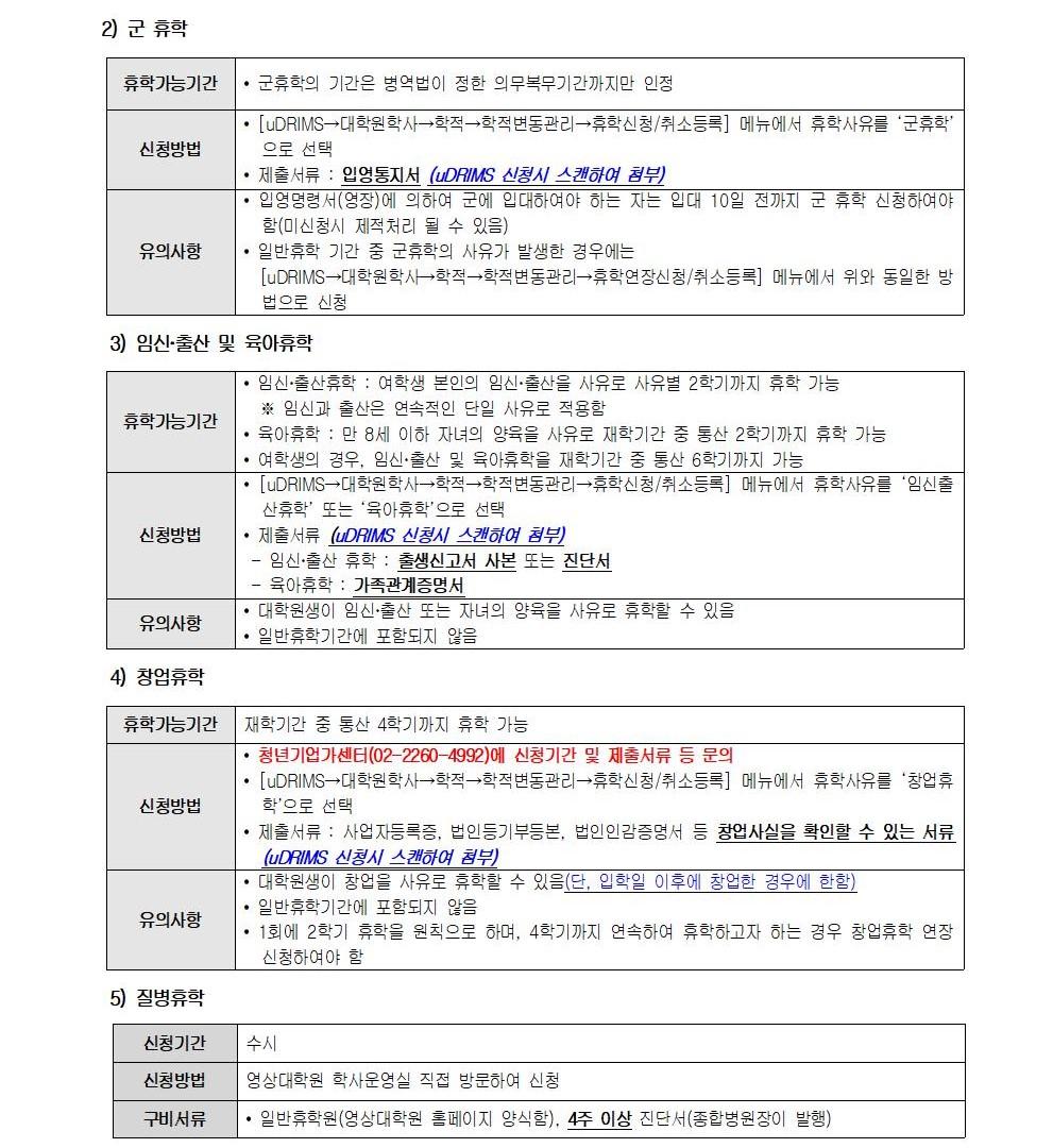 2021-2학기 영상대학원 복학 및 휴학 안내문002-2